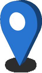 モニタリングポストには青緑色のマップピンが表示されます。